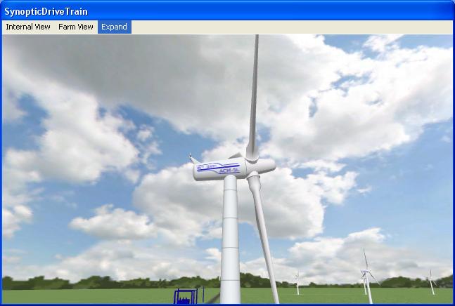 3D Wind Turbine view
